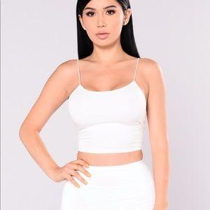 Fashion nova white Kiki crop top